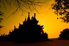 Sanctuary of Truth with sunset background Stock Image