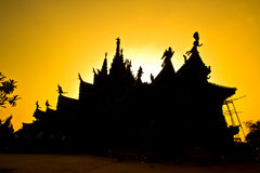 Sanctuary of Truth with sunset background Stock Photography