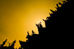 Sanctuary of Truth with sunset background Royalty Free Stock Photo
