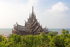 Sanctuary of Truth temple, Pattaya, Thailand Stock Photo