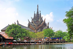 Sanctuary of Truth temple, Pattaya, Thailand stock photography