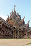 Sanctuary of Truth temple, Pattaya, Thailand Stock Photos