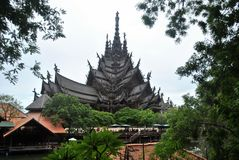 The Sanctuary of Truth Thailand. Temple of Truth in Thailand, built without a single nail Stock Image