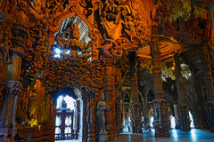 Sanctuary of Truth wooden sculpture Stock Image
