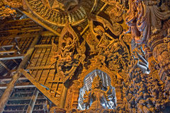 Sanctuary of Truth wooden sculpture Stock Images
