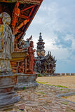 Sanctuary of Truth wooden sculpture Royalty Free Stock Photos
