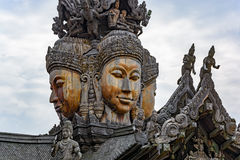 Sanctuary of Truth wooden sculpture Royalty Free Stock Photo