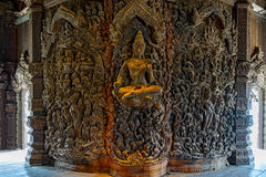 Sanctuary of Truth wooden sculpture Royalty Free Stock Photography