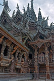Sanctuary of Truth wooden sculpture Stock Photo