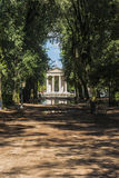 Sanctuary of Villa Borghese. Endless road to the sanctuary of Villa Borghese Royalty Free Stock Photography