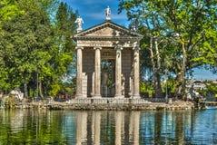 Sanctuary villa borghese rome. Villa Borghese in Rome reflection Royalty Free Stock Photography