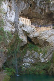 Sanctuary of the Virgin of Covadonga Stock Photo