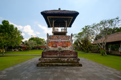 Sanctum of Balinese Hinduism praying altar stock image