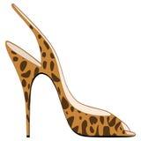 Sandália colocada saltos elevada Imagem de Stock