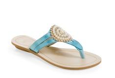 Sandália fêmea isolada Imagem de Stock
