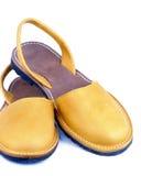 Sandálias amarelas Fotos de Stock Royalty Free