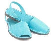 Sandálias Avarcas de turquesa Imagens de Stock Royalty Free