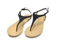 Sandálias com cristais de rocha Fotografia de Stock Royalty Free