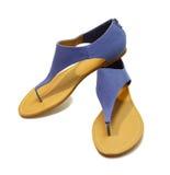 Sandálias com um fechamento Imagens de Stock Royalty Free