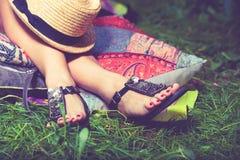 Sandálias da forma do verão Fotos de Stock Royalty Free