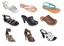 Sandálias da mulher Imagem de Stock