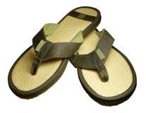 Sandálias da palha Fotos de Stock Royalty Free