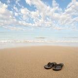 Sandálias da praia Imagens de Stock
