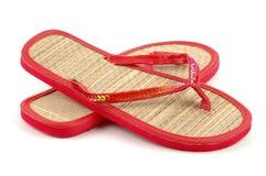 Sandálias da praia fotografia de stock