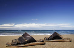 Sandálias da praia Imagem de Stock Royalty Free