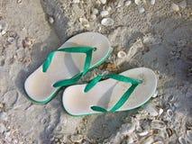 Sandálias da praia Fotos de Stock Royalty Free