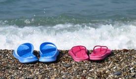 Sandálias da praia Foto de Stock