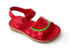 Sandálias das crianças Imagem de Stock