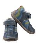 Sandálias das crianças. fotografia de stock royalty free