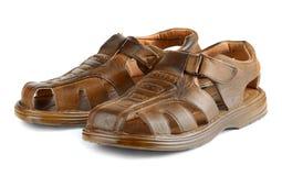 Sandálias de couro Imagem de Stock Royalty Free