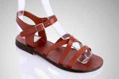 Sandálias de couro Fotos de Stock Royalty Free