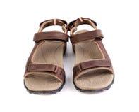 Sandálias de um marrom do esporte Imagens de Stock