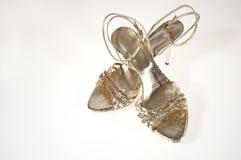 Sandálias douradas Imagem de Stock Royalty Free