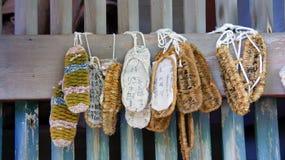 Sandálias japonesas da palha Fotos de Stock Royalty Free