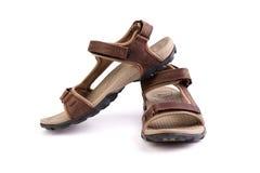 Sandálias marrons do esporte Foto de Stock Royalty Free
