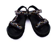 Sandálias no fundo branco Foto de Stock Royalty Free