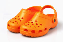 Sandálias no fundo branco foto de stock