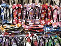 Sandálias no templo bagan Fotos de Stock Royalty Free