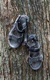 Sandálias usadas velhas Imagem de Stock
