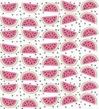 Sandía colorida con textura inconsútil del modelo de las semillas Foto de archivo libre de regalías