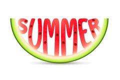Sandía del verano ilustración del vector