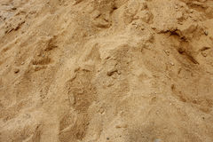 Sand. Texture of yellow sand close up Stock Photography