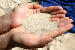 Sand. Nice white beach sand Stock Image