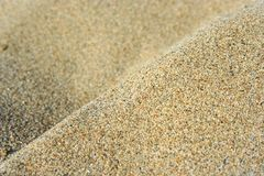 Sand. The sand at the beach Royalty Free Stock Image