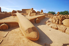 Sand airplane Royalty Free Stock Photo