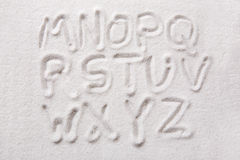 Sand Alphabet Stock Image